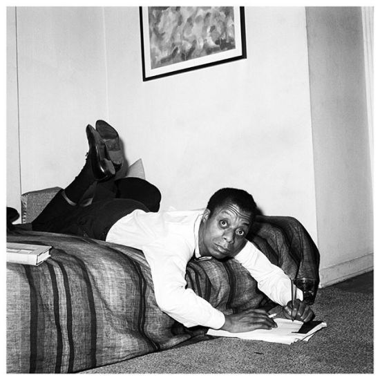James Baldwin writing